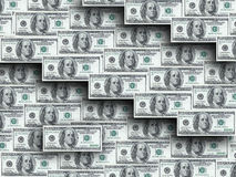 Hundred dollar notes Stock Image
