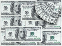 Hundred Dollar Notes Royalty Free Stock Image