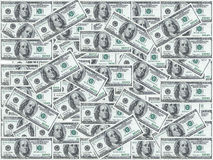 Hundred dollar notes Stock Photo