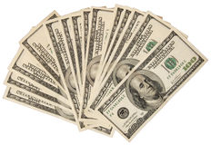 Hundred dollar notes Stock Images