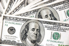 Hundred dollar notes design Royalty Free Stock Images
