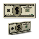 Hundred dollar paper bill banknote Royalty Free Stock Photography