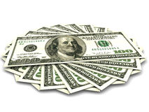 Hundred dollars. Very beautiful three-dimensional illustration, figure. Hundred dollars. 3d Stock Photo