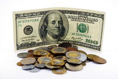 Hundred dollars Royalty Free Stock Photography