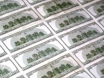 Hundred dollars. Hundreds American dollars Stock Photography