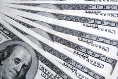 Hundred dollars background Stock Photo
