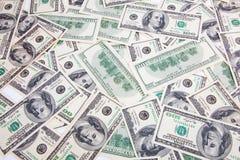 Hundred Dollars background Stock Photo