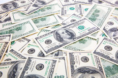 Hundred Dollars background Stock Photos