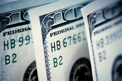 Hundred dollars banknotes Stock Photo