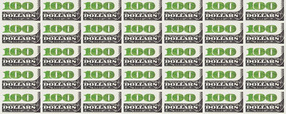 A hundred dollars bill background. 100 dollars. Stock Images