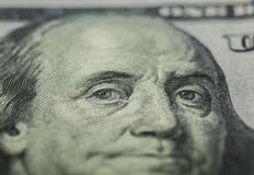 Hundred dollars bill - Benjamin Franklin Stock Photo