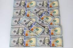 Hundred dollars bills - $ money finance Stock Images