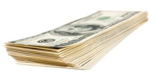 The hundred dollars bundle Royalty Free Stock Photos