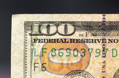 Hundred dollars. close-up Royalty Free Stock Image