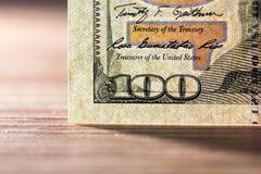 Hundred dollars. close-up Royalty Free Stock Photos