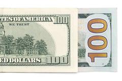 Hundred dollars. close-up Royalty Free Stock Photo
