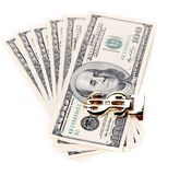 Hundred dollars greenbacks. Royalty Free Stock Photography