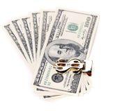 Hundred dollars greenbacks. Royalty Free Stock Photography