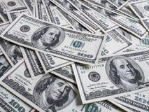 Hundred dollars heap Stock Image