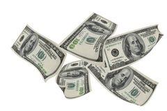 Hundred dollars . Isolated on white. Royalty Free Stock Photo