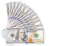 Hundred  dollars isolated on white background Stock Image