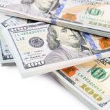 Hundred dollars isolated on white background Royalty Free Stock Photos