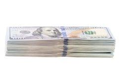 Hundred dollars isolated on white background Stock Photos