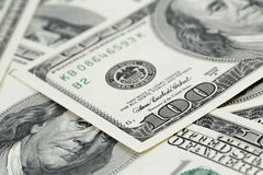 Hundred dollars notes background Royalty Free Stock Photography