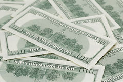 Hundred dollars notes background Stock Photos