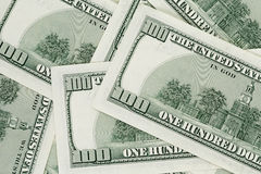 Hundred dollars notes background Royalty Free Stock Images