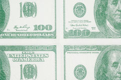 Hundred dollars in quarters Royalty Free Stock Photography
