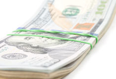 Hundred dollars Stock Image