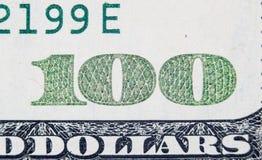 Hundred dollars. super macro Stock Images