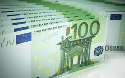 Hundred euro banknotes Royalty Free Stock Image