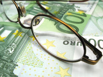 Hundred euro bills Stock Photography