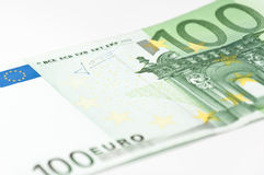 Hundred euro close-up. Close-up of a hundred euro banknote Stock Photo