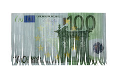 Hundred euro cut Royalty Free Stock Images