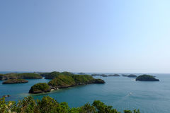 Hundred island view. Beautiful scenic view of Hundred islands in Pangasinan - Philippines Stock Images
