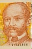 Hundred kuna croatian banknote. Macro portrait of Ivan Mazuranic 100 kuna croatian banknote Stock Image