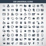 Hundred media icons Stock Image