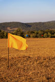 Hundred metre marker flags Stock Image