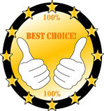Hundred percent best choice. Mark concept Royalty Free Stock Images
