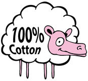 Hundred Percent Cotton Sheep. An image of a cartoon sheep hundred percent cotton Royalty Free Stock Image