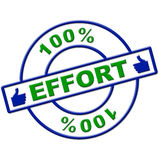 Hundred Percent Effort Represents Hard Work And Completely Royalty Free Stock Photos