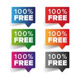Hundred percent free label tag. Vector Royalty Free Stock Photography