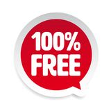 Hundred Percent free sticker tag. Vector Royalty Free Illustration