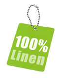 Hundred percent linen Royalty Free Stock Images