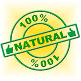 Hundred Percent Natural Represents Absolute Organic And Nature Stock Image