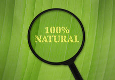 Hundred percent natural Royalty Free Stock Images