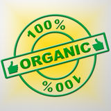 Hundred Percent Organic Means Healthful Healthy And Green Stock Image